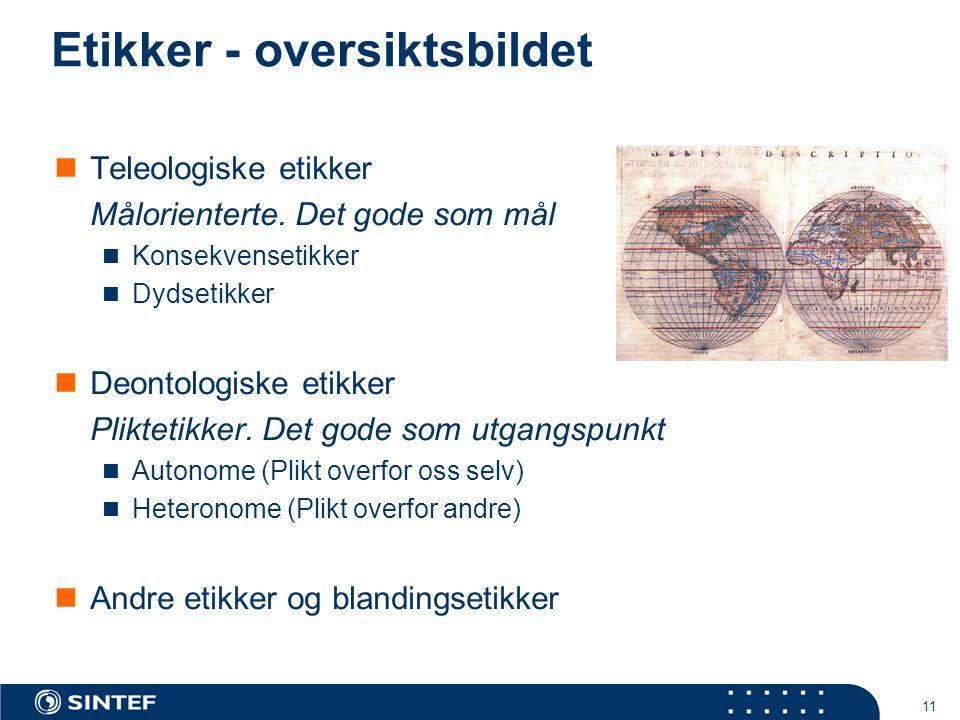 Etikker - oversiktsbildet