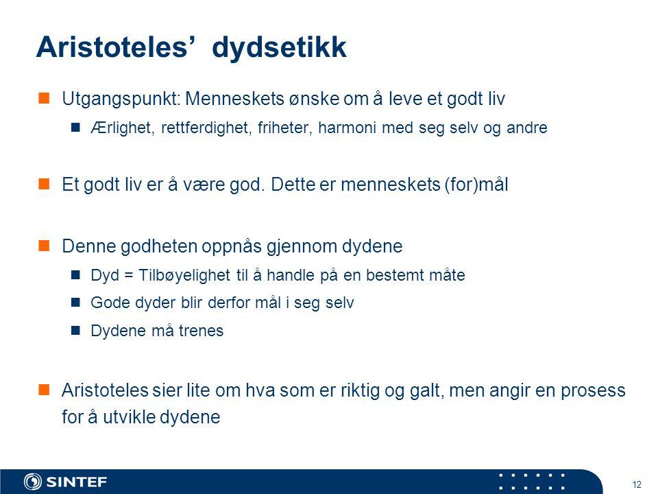 Aristoteles' dydsetikk