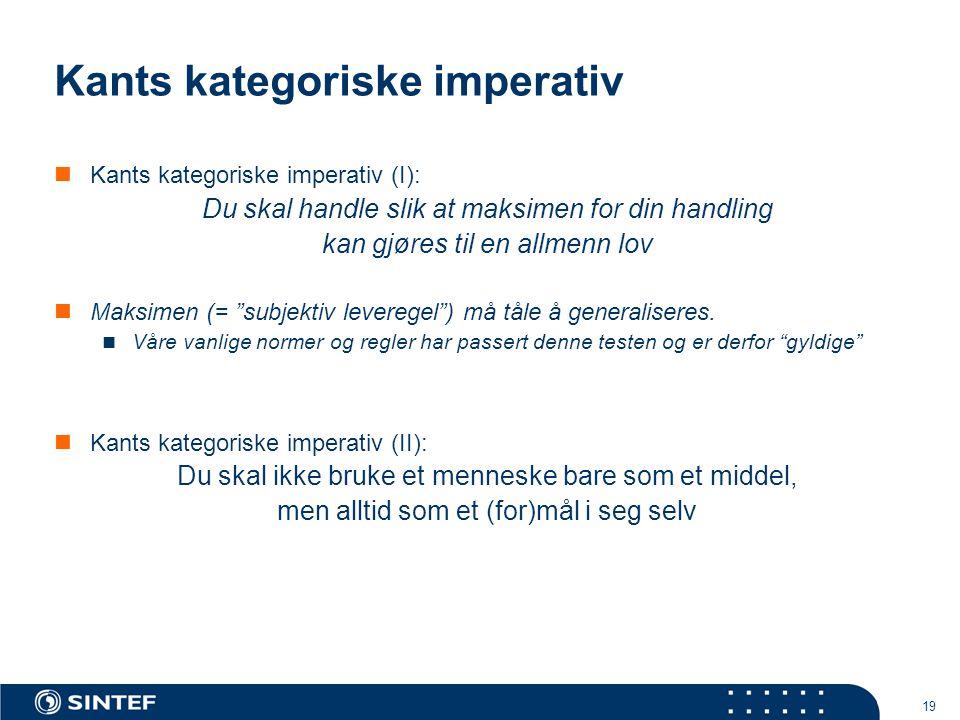 Kants kategoriske imperativ