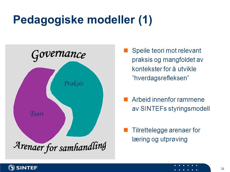 Pedagogiske modeller (1)