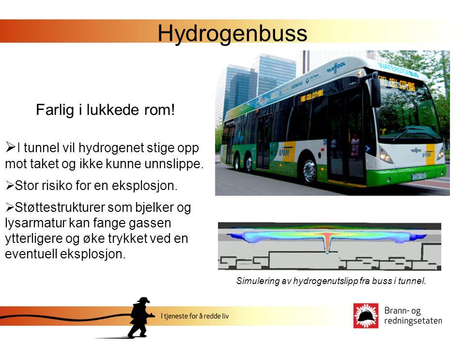 Hydrogenbuss Farlig i lukkede rom!