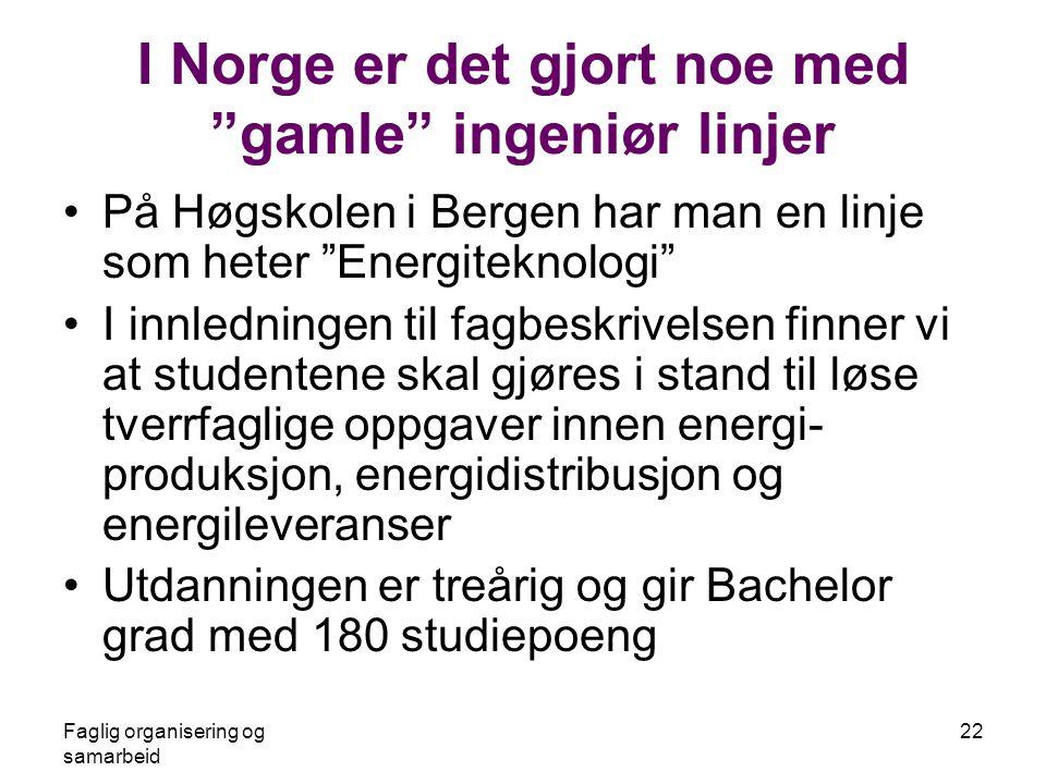 I Norge er det gjort noe med gamle ingeniør linjer