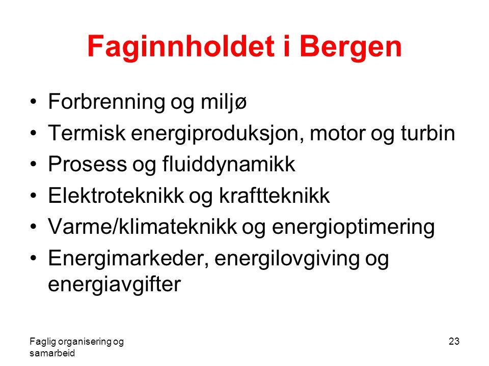 Faginnholdet i Bergen Forbrenning og miljø