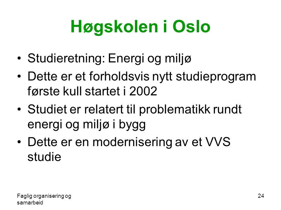 Høgskolen i Oslo Studieretning: Energi og miljø