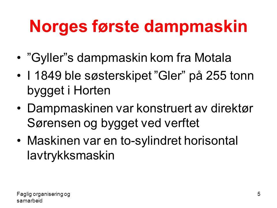 Norges første dampmaskin