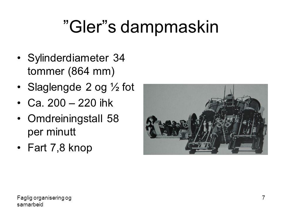 Gler s dampmaskin Sylinderdiameter 34 tommer (864 mm)