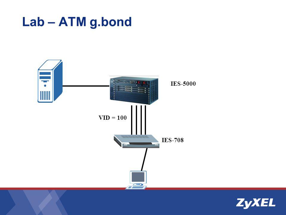 Lab – ATM g.bond IES-5000 VID = 100 IES-708