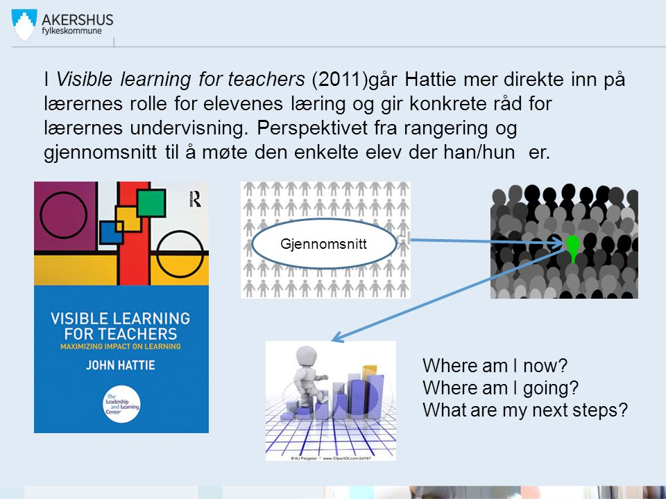 I Visible learning for teachers (2011)går Hattie mer direkte inn på