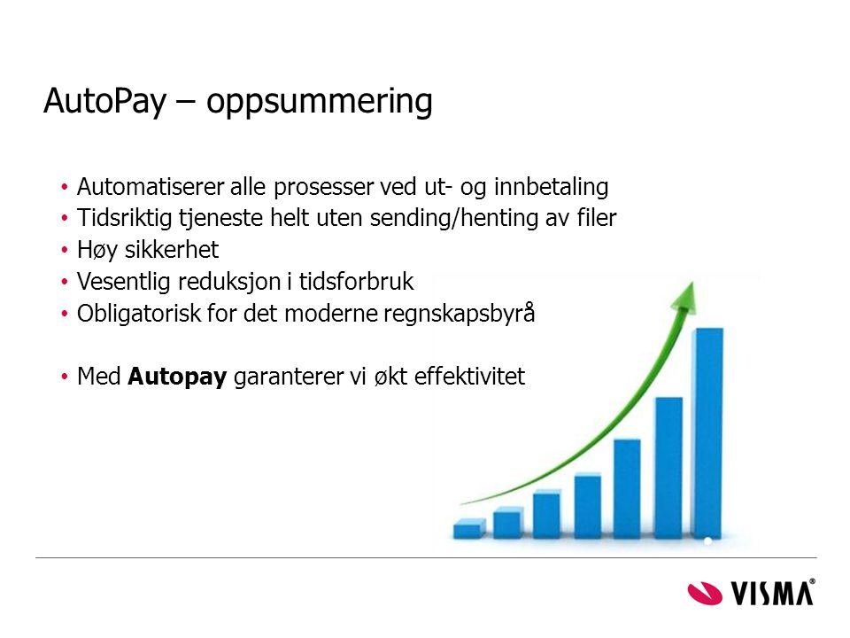 AutoPay – oppsummering