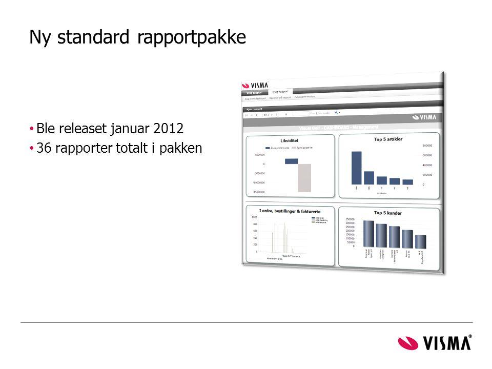 Ny standard rapportpakke