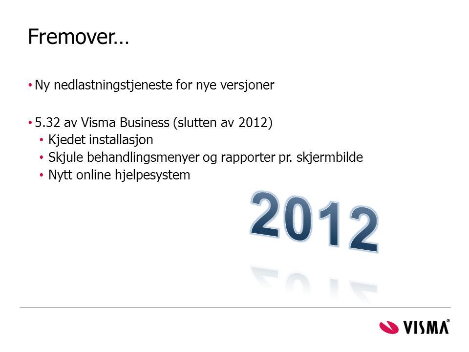 2012 Fremover… Ny nedlastningstjeneste for nye versjoner