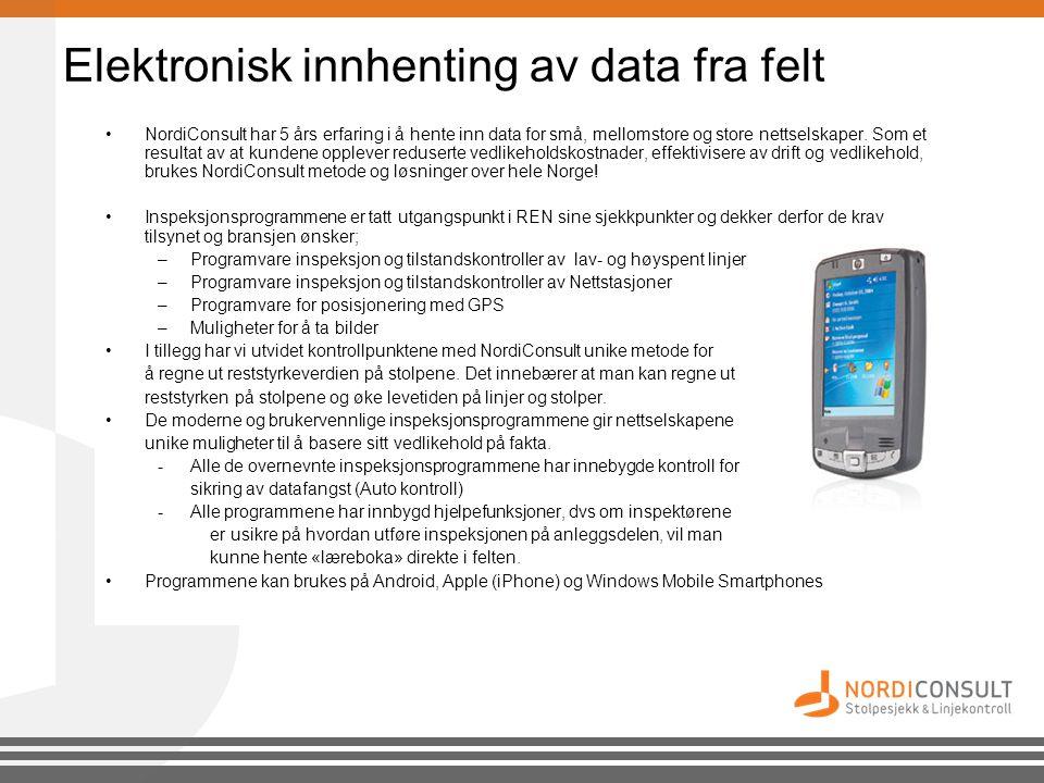 Elektronisk innhenting av data fra felt