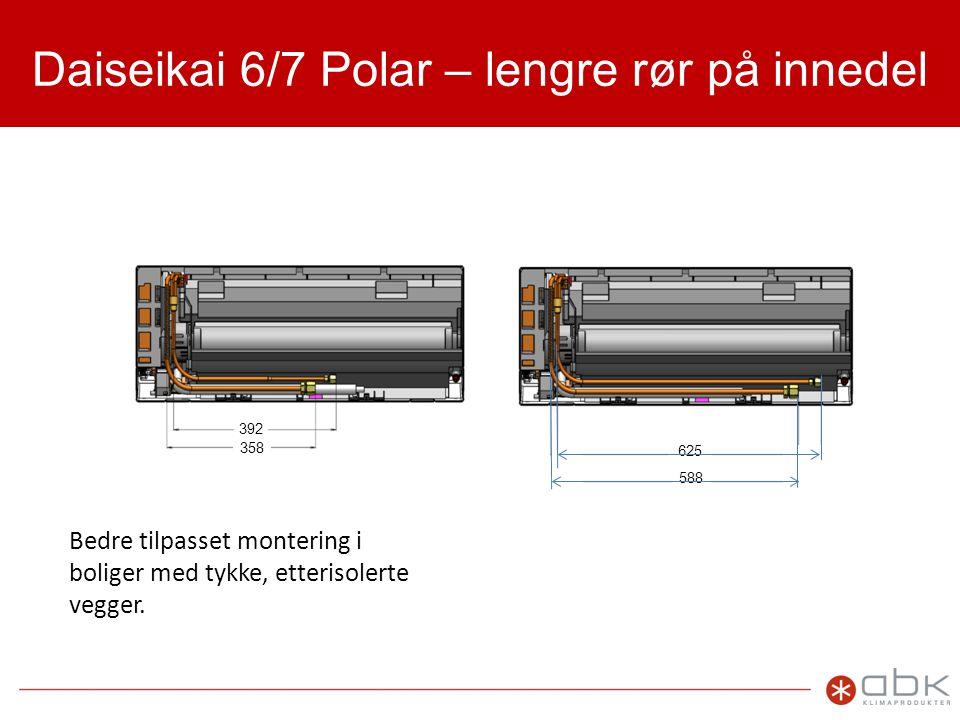 Daiseikai 6/7 Polar – lengre rør på innedel