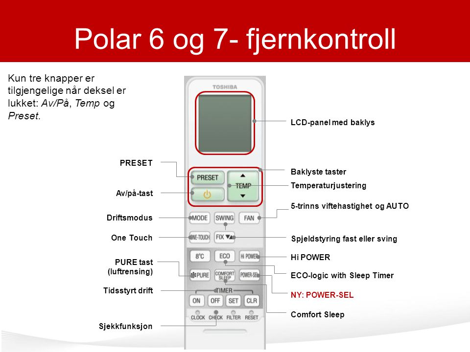 Polar 6 og 7- fjernkontroll