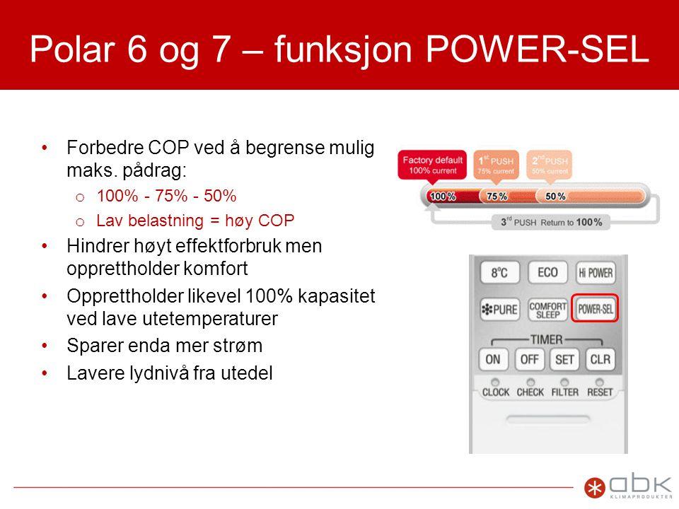 Polar 6 og 7 – funksjon POWER-SEL