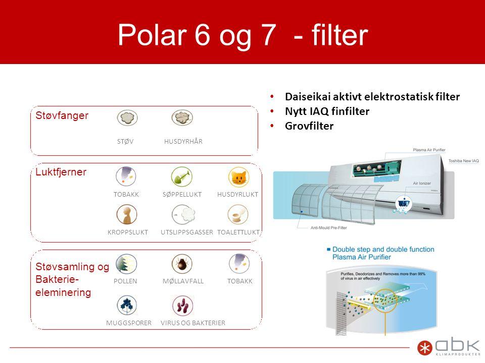 Polar 6 og 7 - filter Daiseikai aktivt elektrostatisk filter