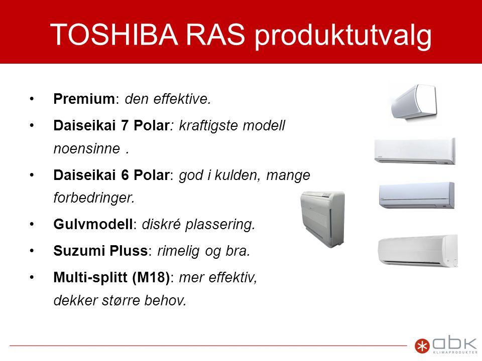 TOSHIBA RAS produktutvalg
