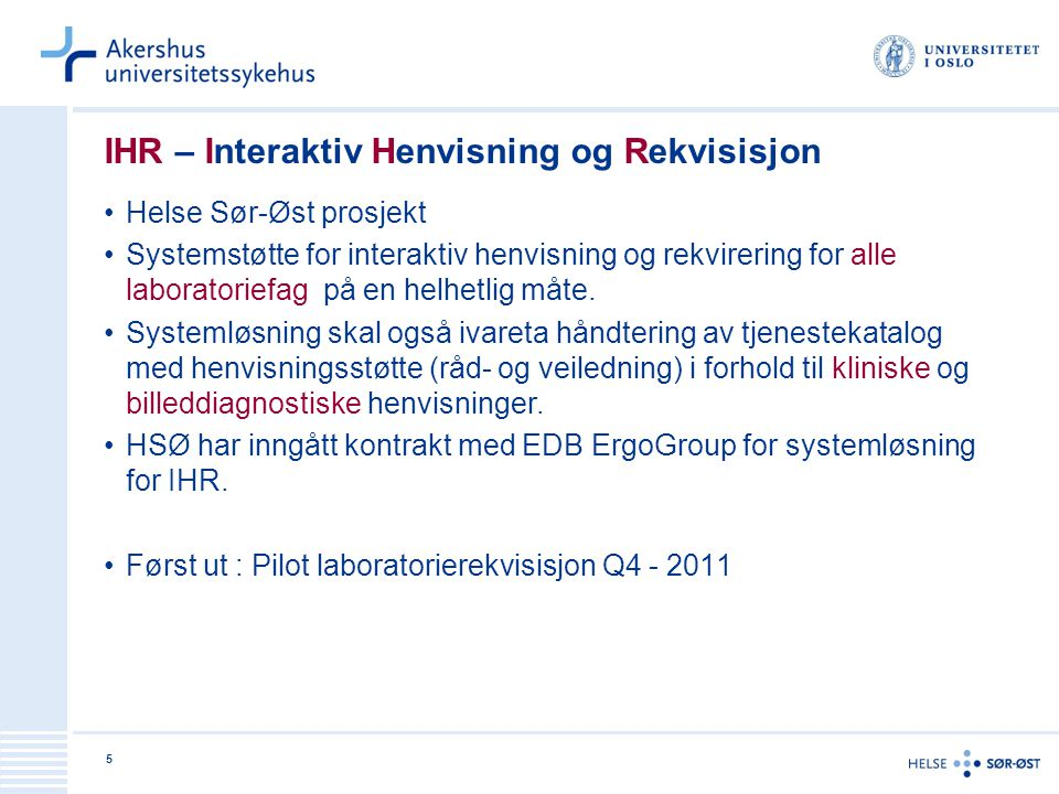IHR – Interaktiv Henvisning og Rekvisisjon