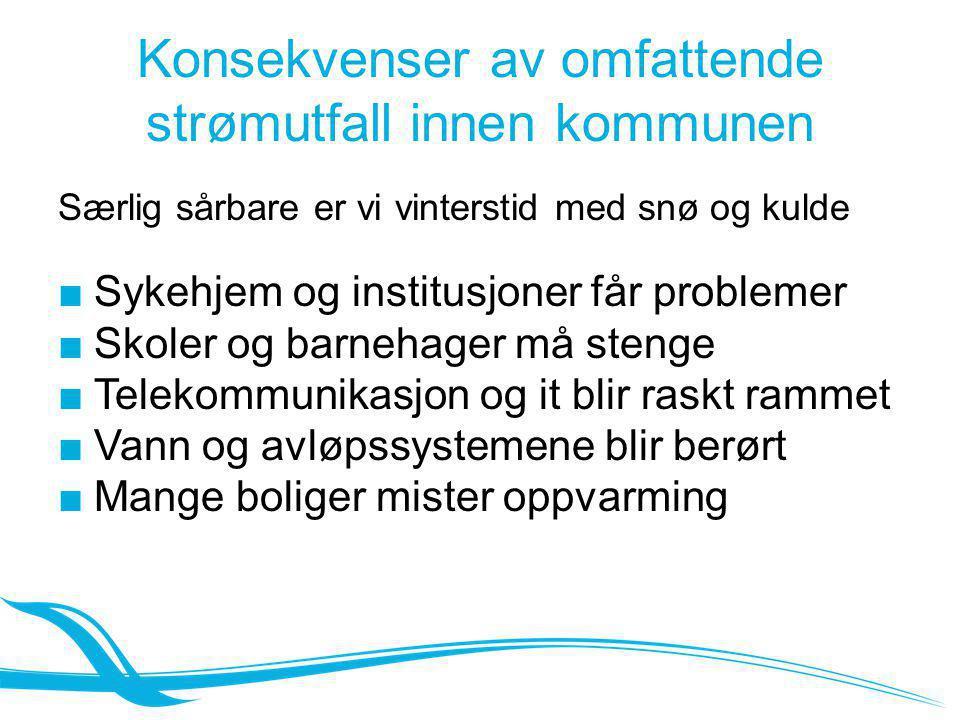 Konsekvenser av omfattende strømutfall innen kommunen