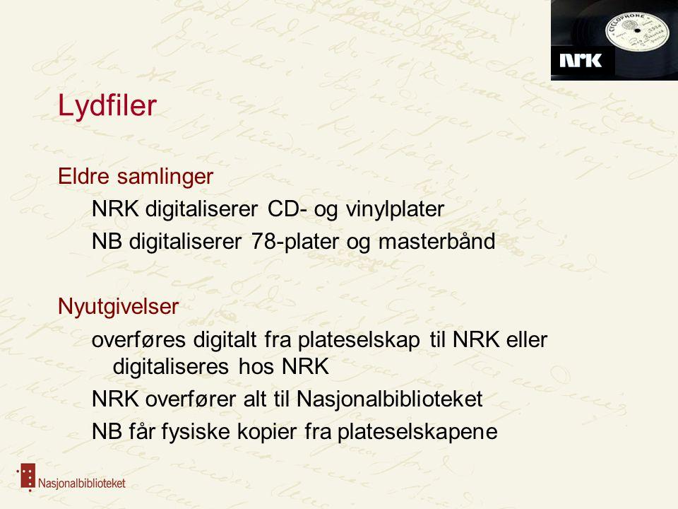 Lydfiler Eldre samlinger NRK digitaliserer CD- og vinylplater