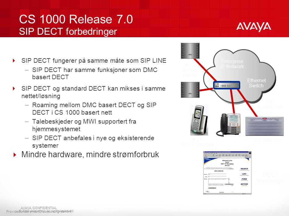 CS 1000 Release 7.0 SIP DECT forbedringer