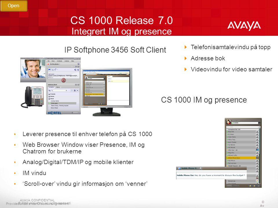 CS 1000 Release 7.0 Integrert IM og presence