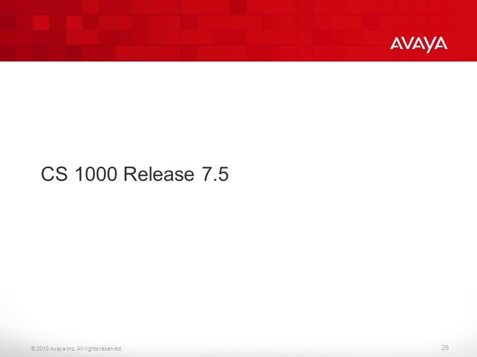 CS 1000 Release 7.5