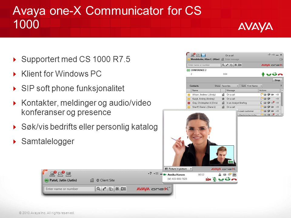 Avaya one-X Communicator for CS 1000