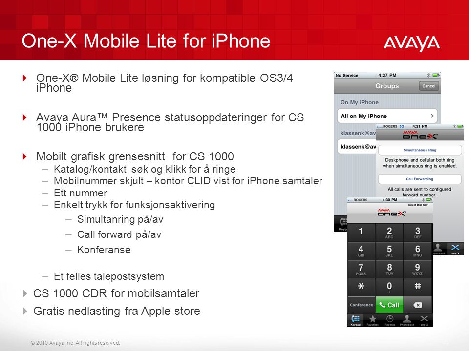 One-X Mobile Lite for iPhone