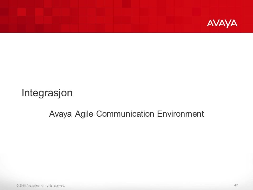 Avaya Agile Communication Environment