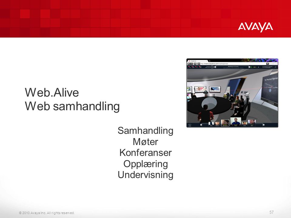 Web.Alive Web samhandling