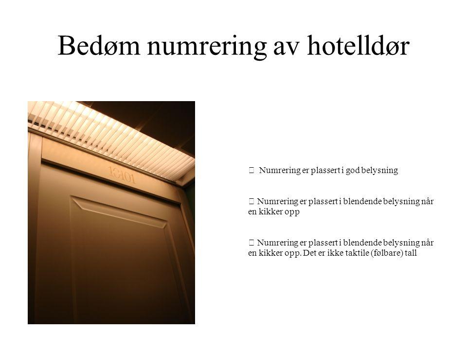 Bedøm numrering av hotelldør