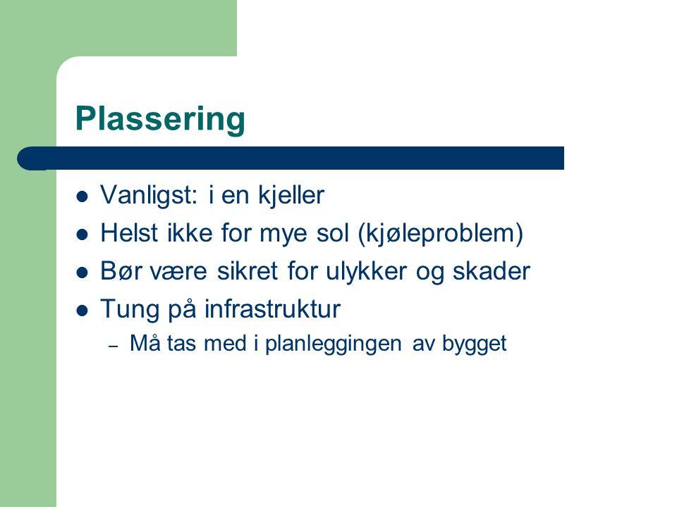 Plassering Vanligst: i en kjeller