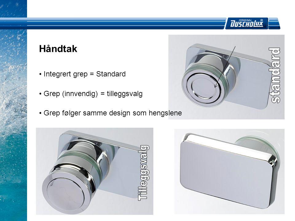 standard Tilleggsvalg Håndtak Integrert grep = Standard