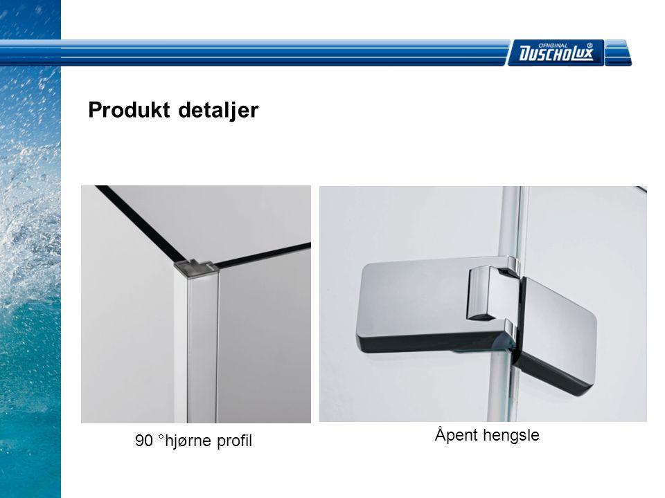 Produkt detaljer Åpent hengsle 90 °hjørne profil