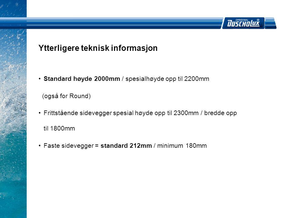 Ytterligere teknisk informasjon