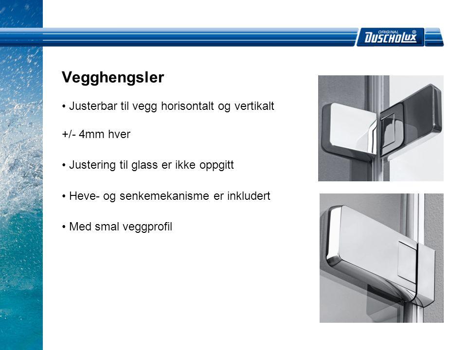Vegghengsler Justerbar til vegg horisontalt og vertikalt +/- 4mm hver