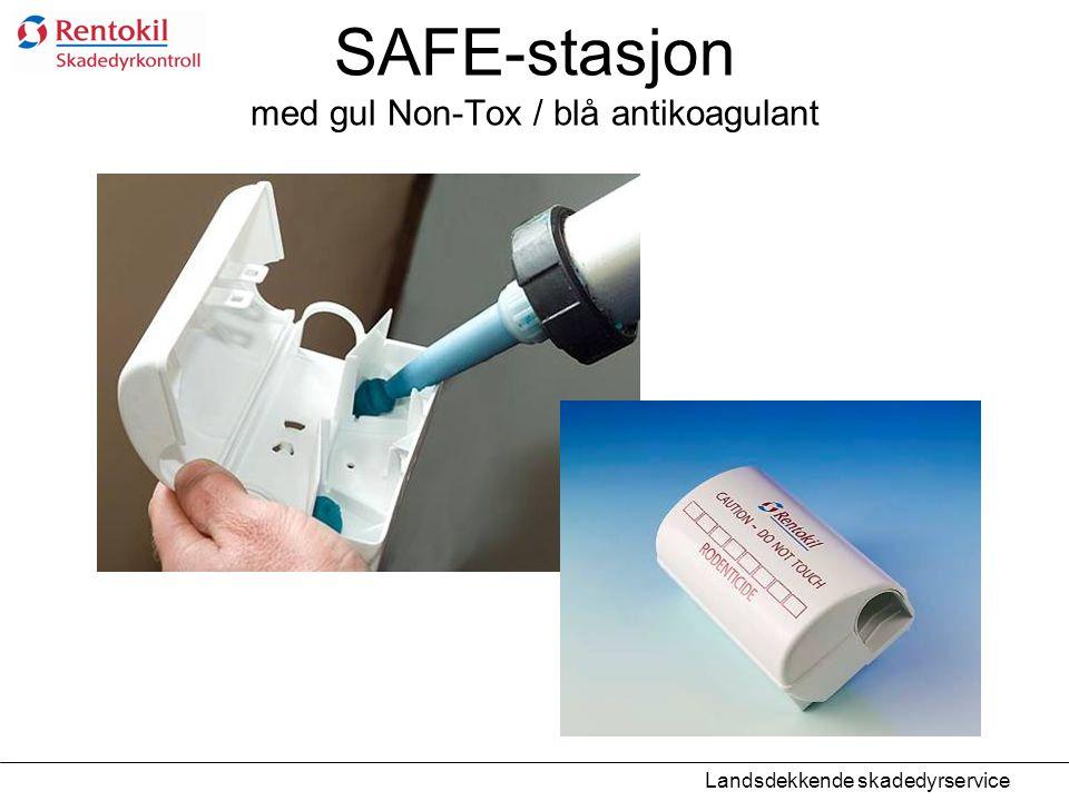 SAFE-stasjon med gul Non-Tox / blå antikoagulant