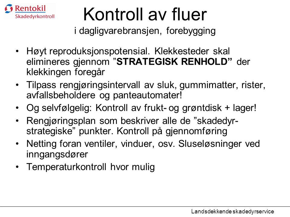 Kontroll av fluer i dagligvarebransjen, forebygging
