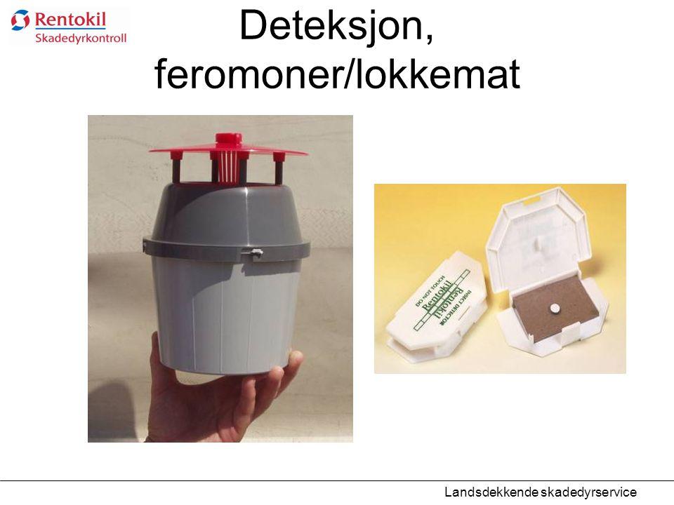 Deteksjon, feromoner/lokkemat