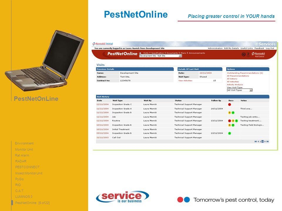 PestNetOnline PestNetOnLine Placing greater control in YOUR hands
