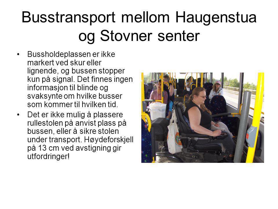 Busstransport mellom Haugenstua og Stovner senter