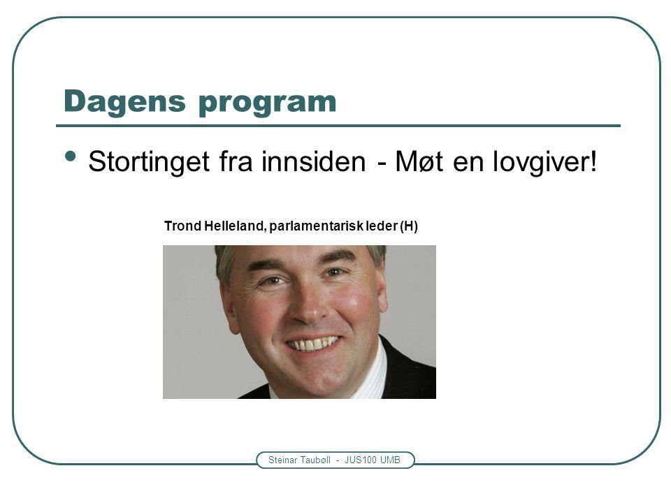 Dagens program Stortinget fra innsiden - Møt en lovgiver!