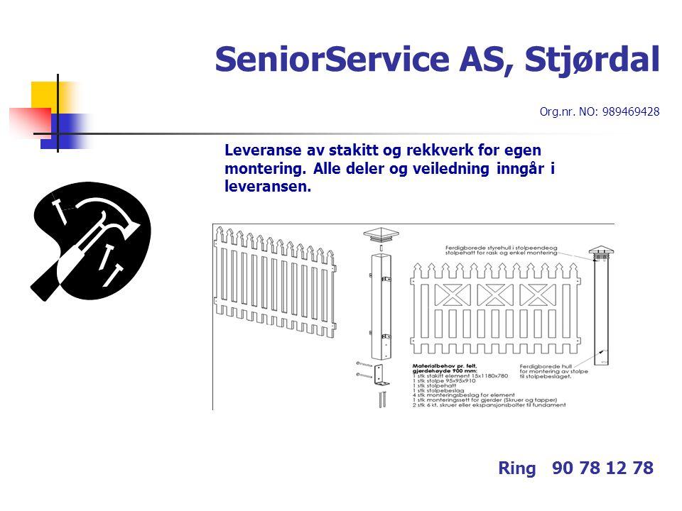 SeniorService AS, Stjørdal Org.nr. NO: 989469428