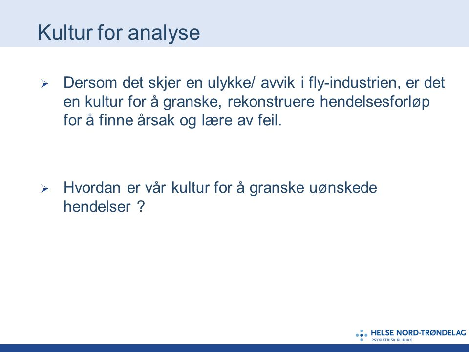 Kultur for analyse