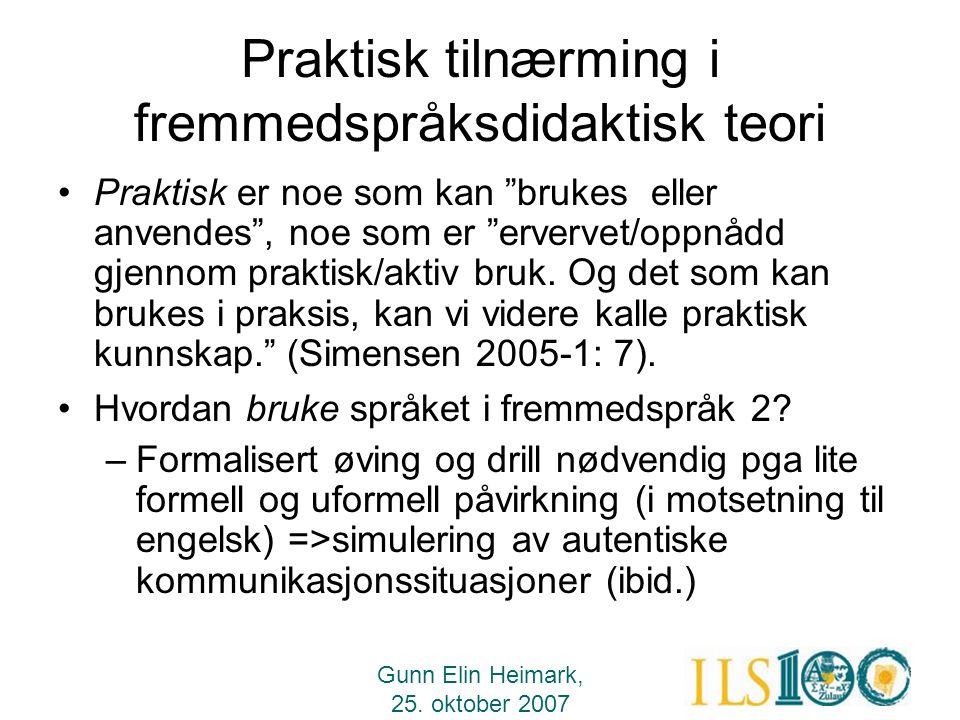 Praktisk tilnærming i fremmedspråksdidaktisk teori