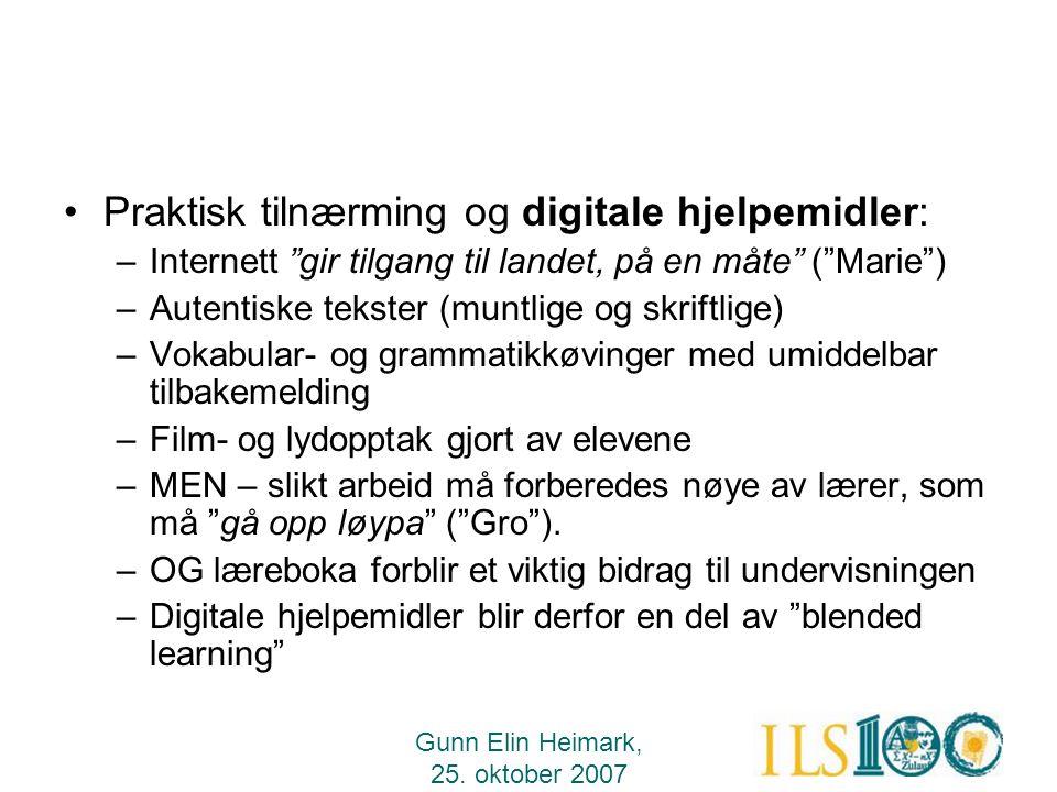 Praktisk tilnærming og digitale hjelpemidler: