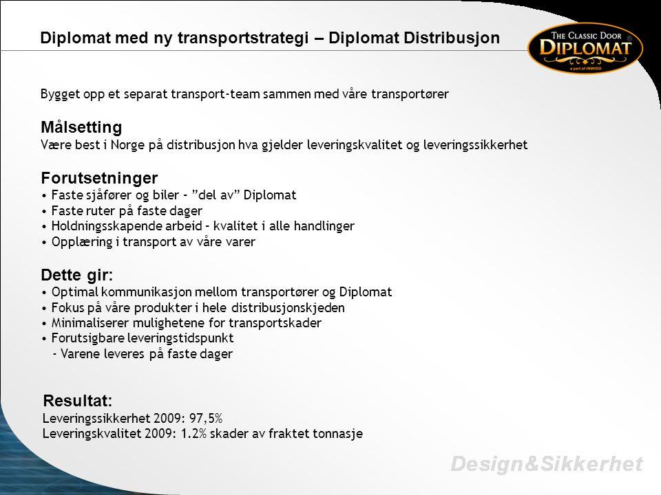 Diplomat med ny transportstrategi – Diplomat Distribusjon