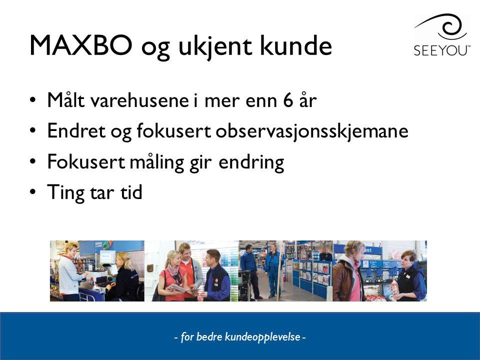 MAXBO og ukjent kunde Målt varehusene i mer enn 6 år