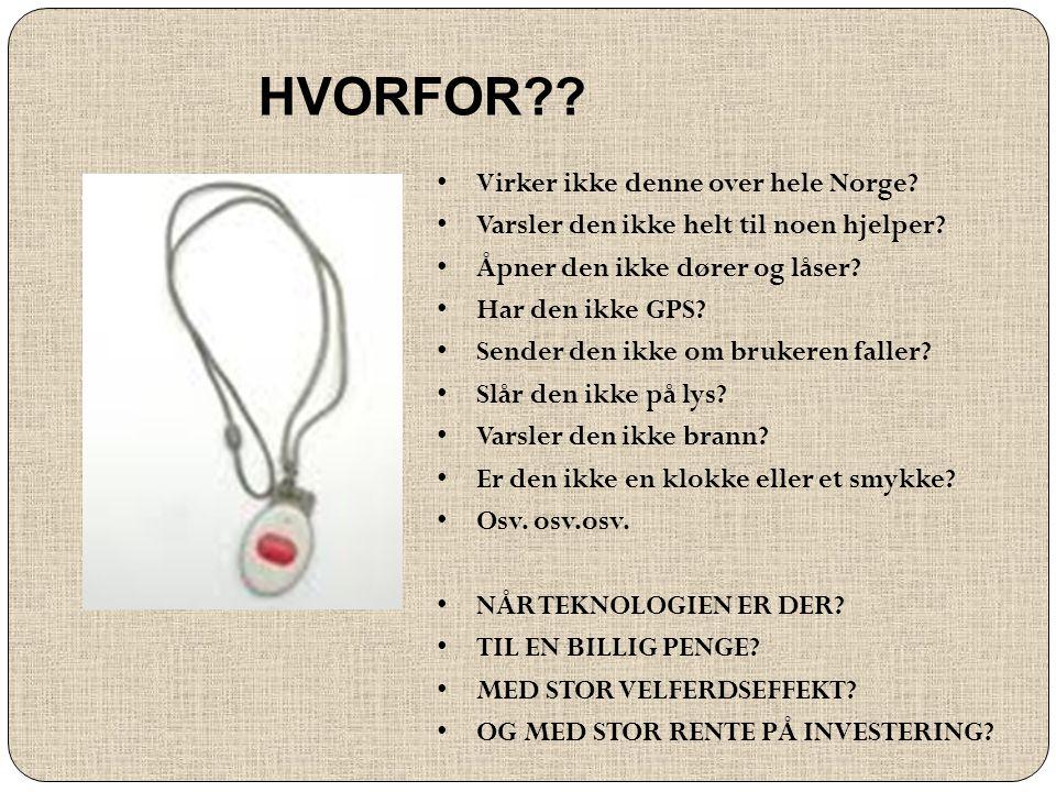 HVORFOR Virker ikke denne over hele Norge